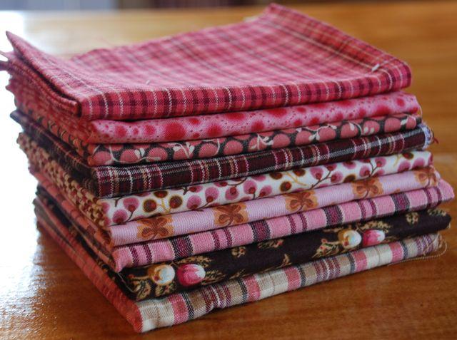 Pink & brown & plaid set 2