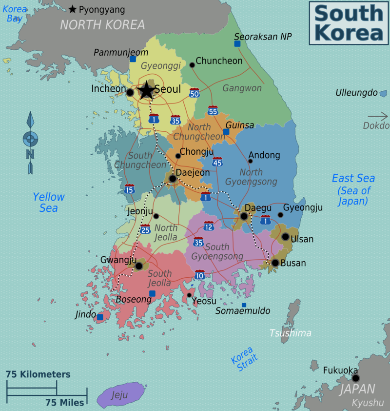 Map-south-korea